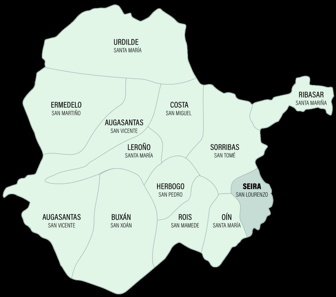 Mapa da Parroquia de Seira