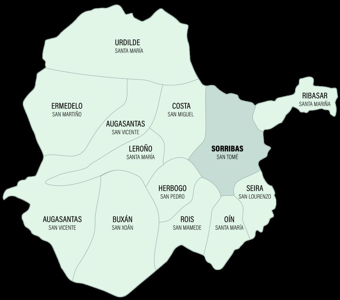 Mapa da Parroquia de Sorribas