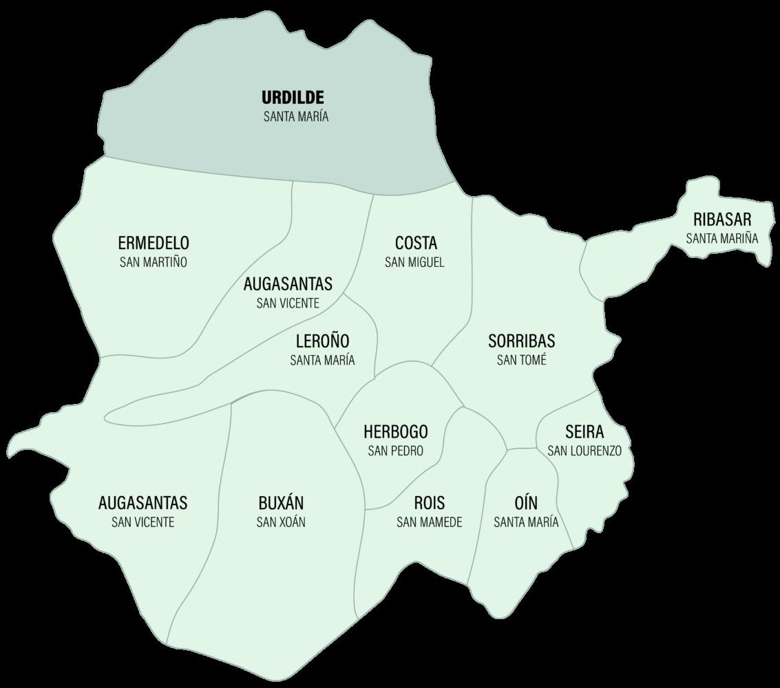 Mapa da Parroquia de Urdilde