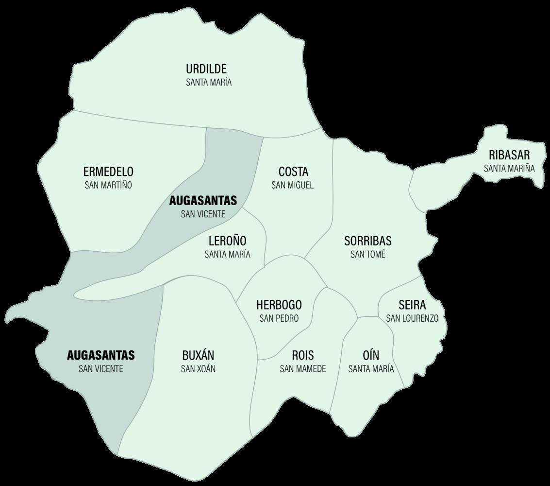 Mapa Parroquia de Augasantas