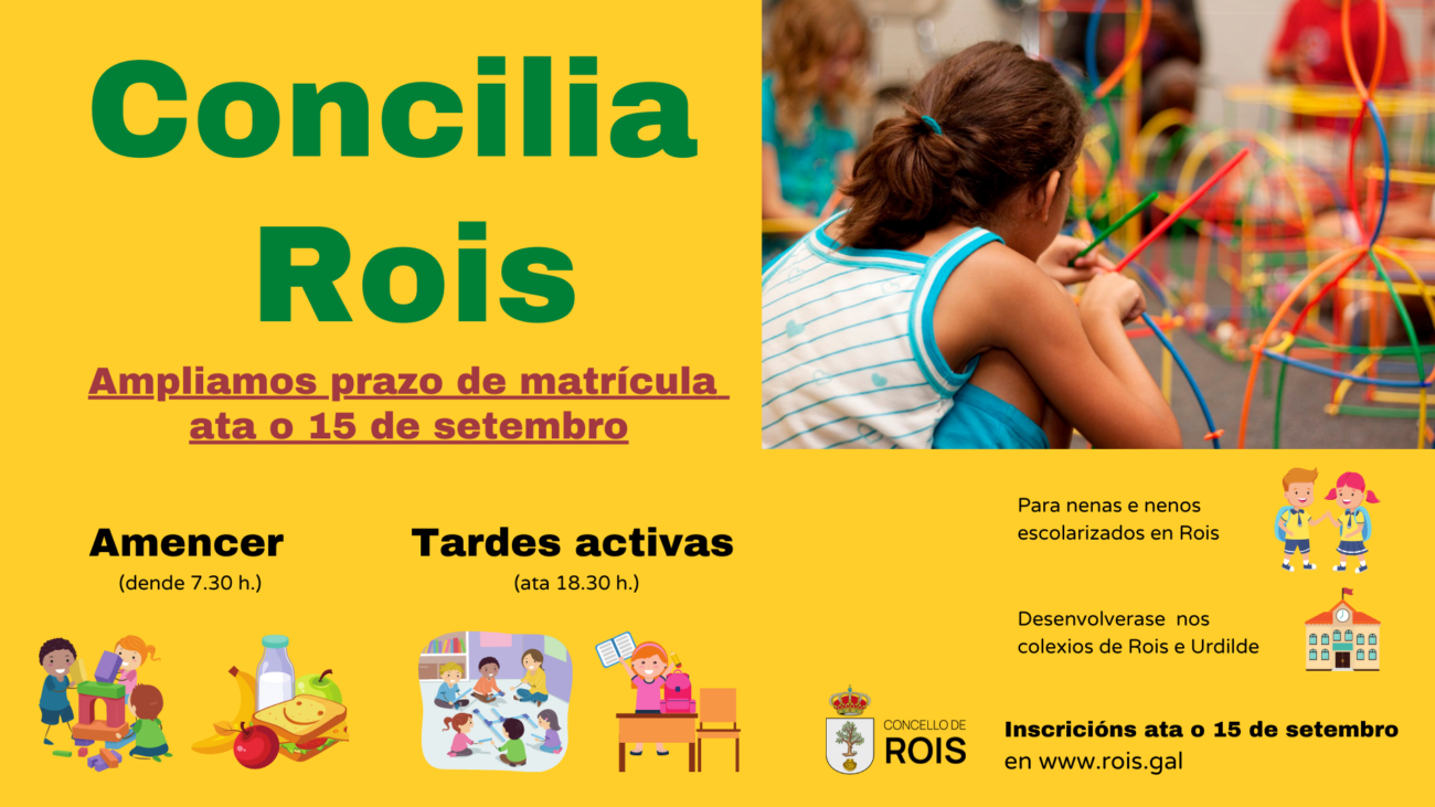 Rois amplia prazo matrícula do programa Concilia ata o 15 de setembro