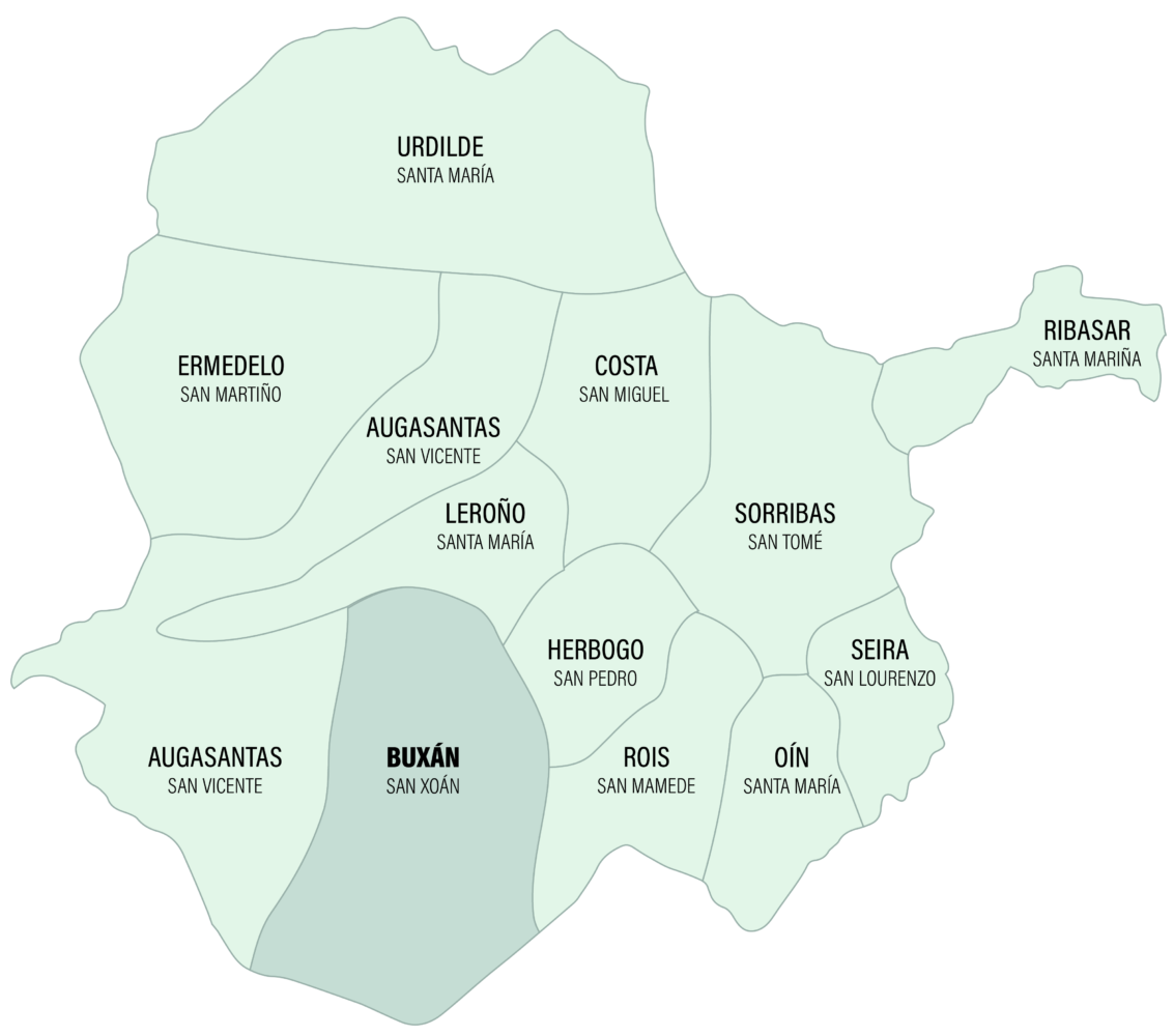Mapa Parroquia de Buxán