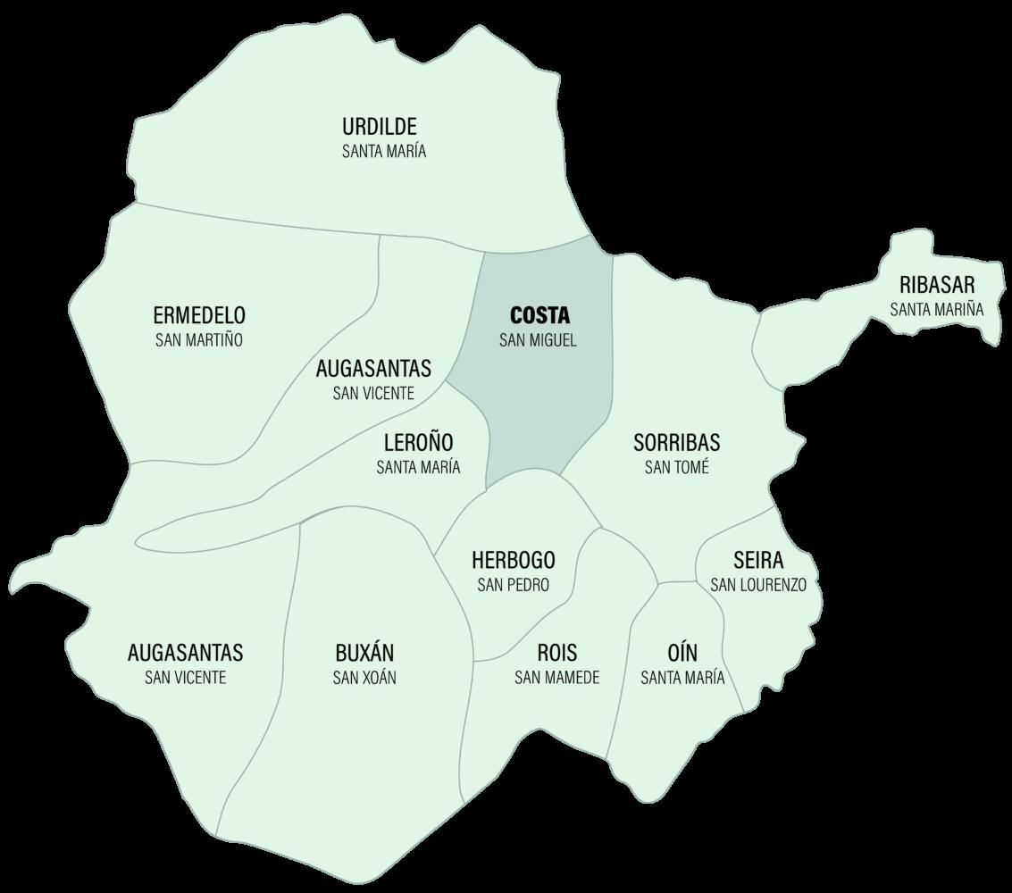 Mapa da Parroquia de Costa