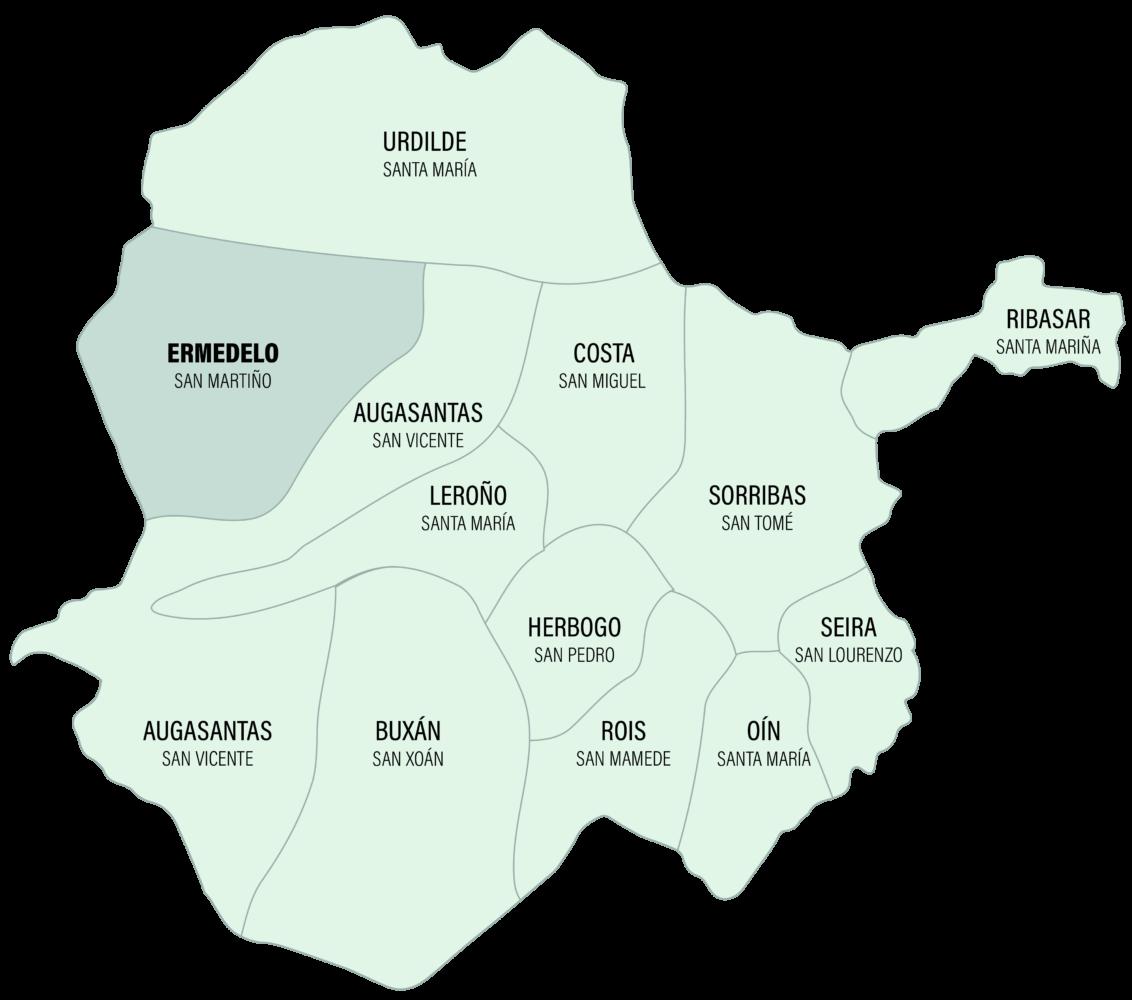 Mapa da Parroquia de Ermedelo