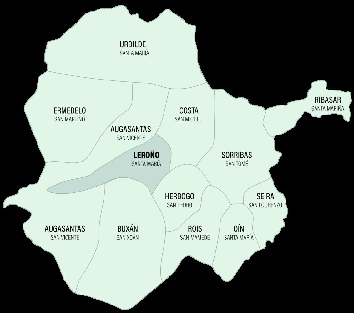 Mapa da Parroquia de Leroño