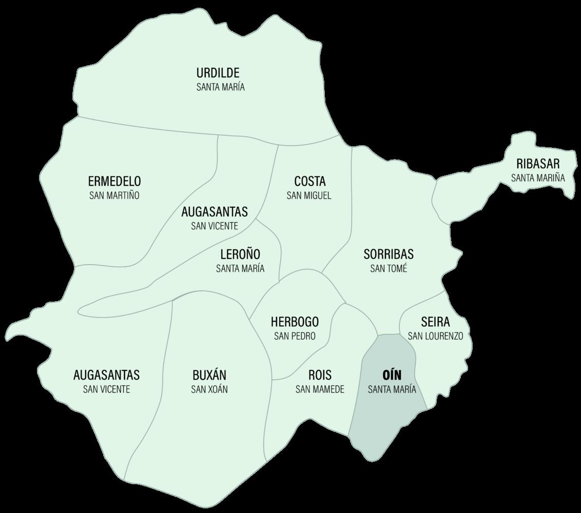 Mapa da Parroquia de Oín