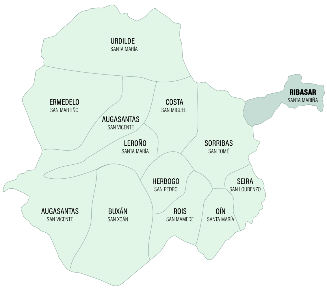 Mapa da Parroquia de Ribasar