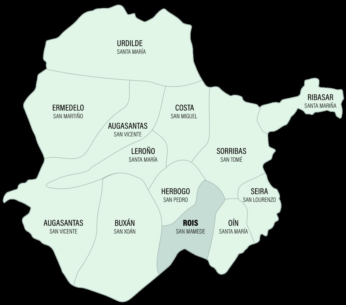 Mapa da Parroquia de Rois