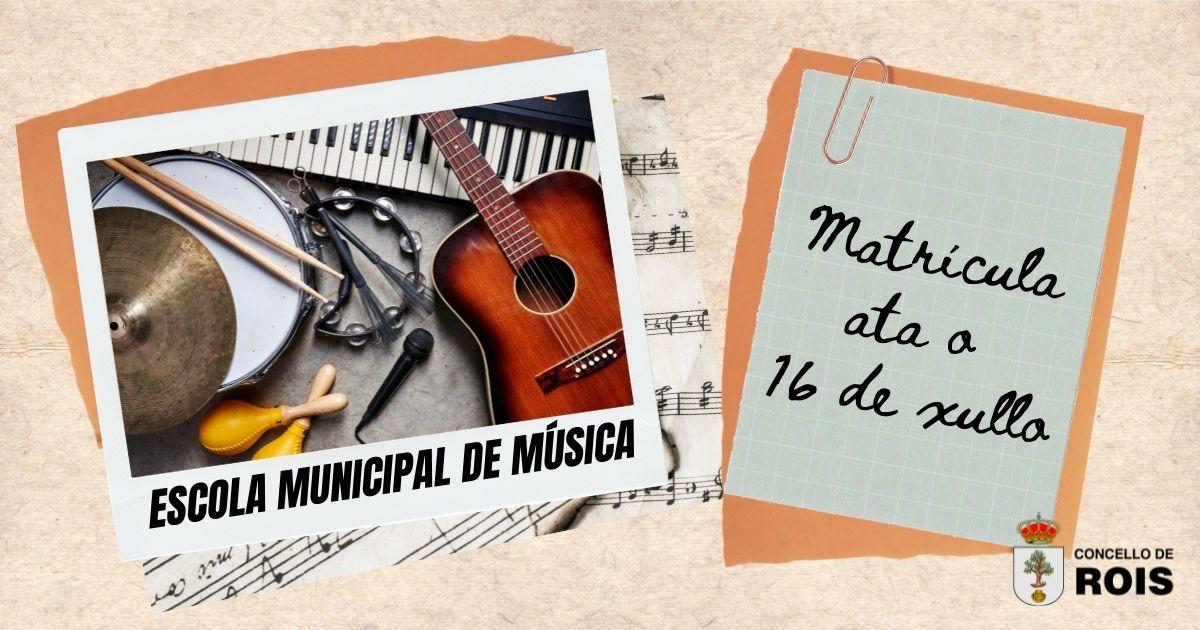 A Escola Municipal de Música de Rois abre ata o 16 de xullo o prazo de matrícula para o vindeiro curso