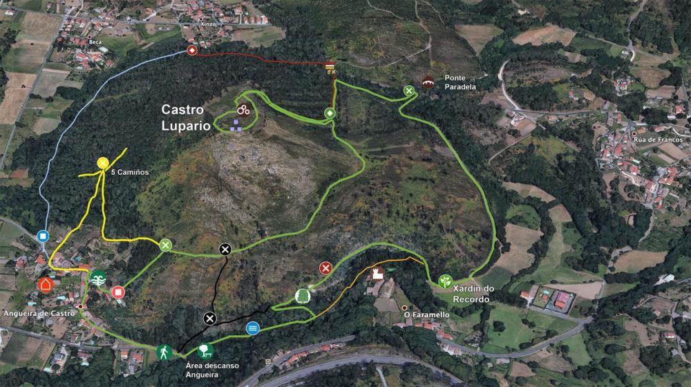 Mapa Ruta Castro Lupario