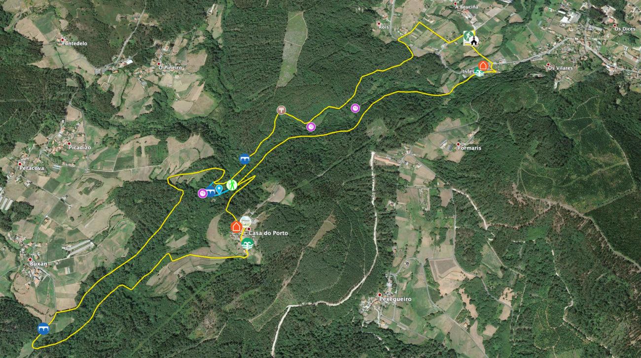 Mapa da Ruta das Penicias