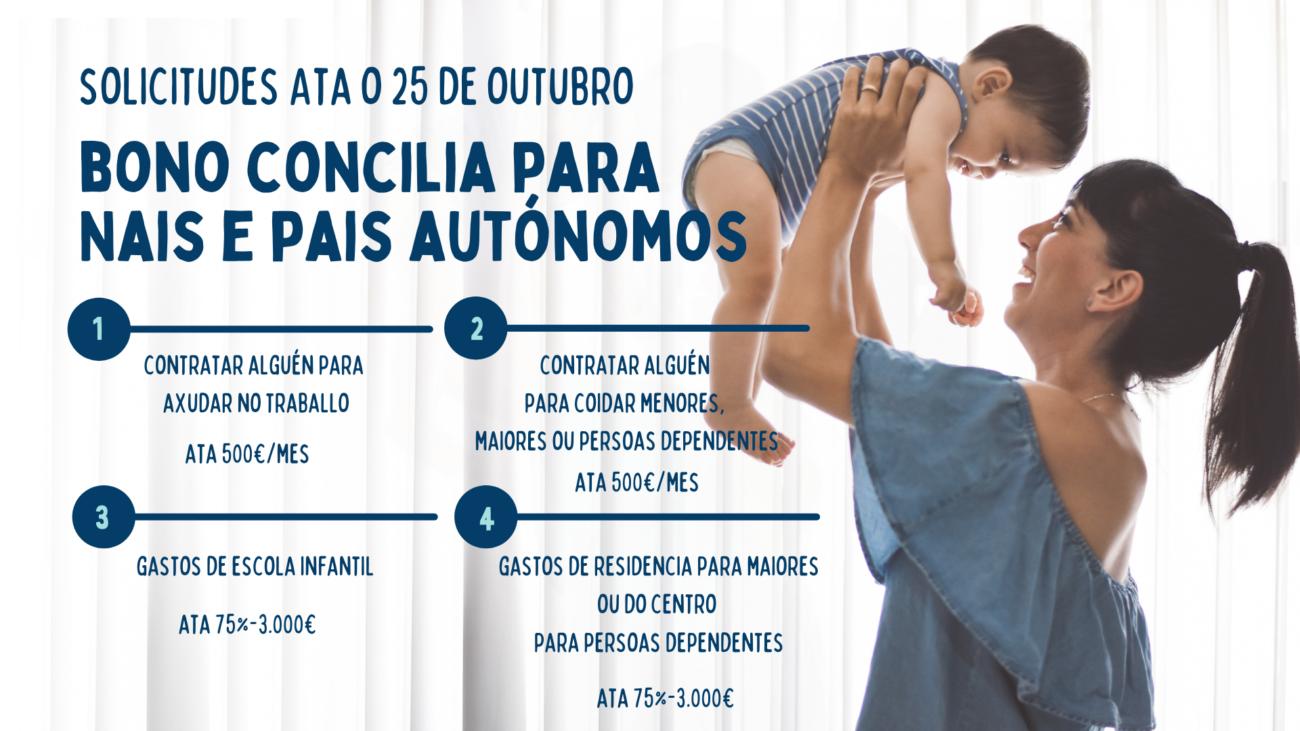 Bono Concilia da Xunta para nais e pais autónomos. Concello de Rois