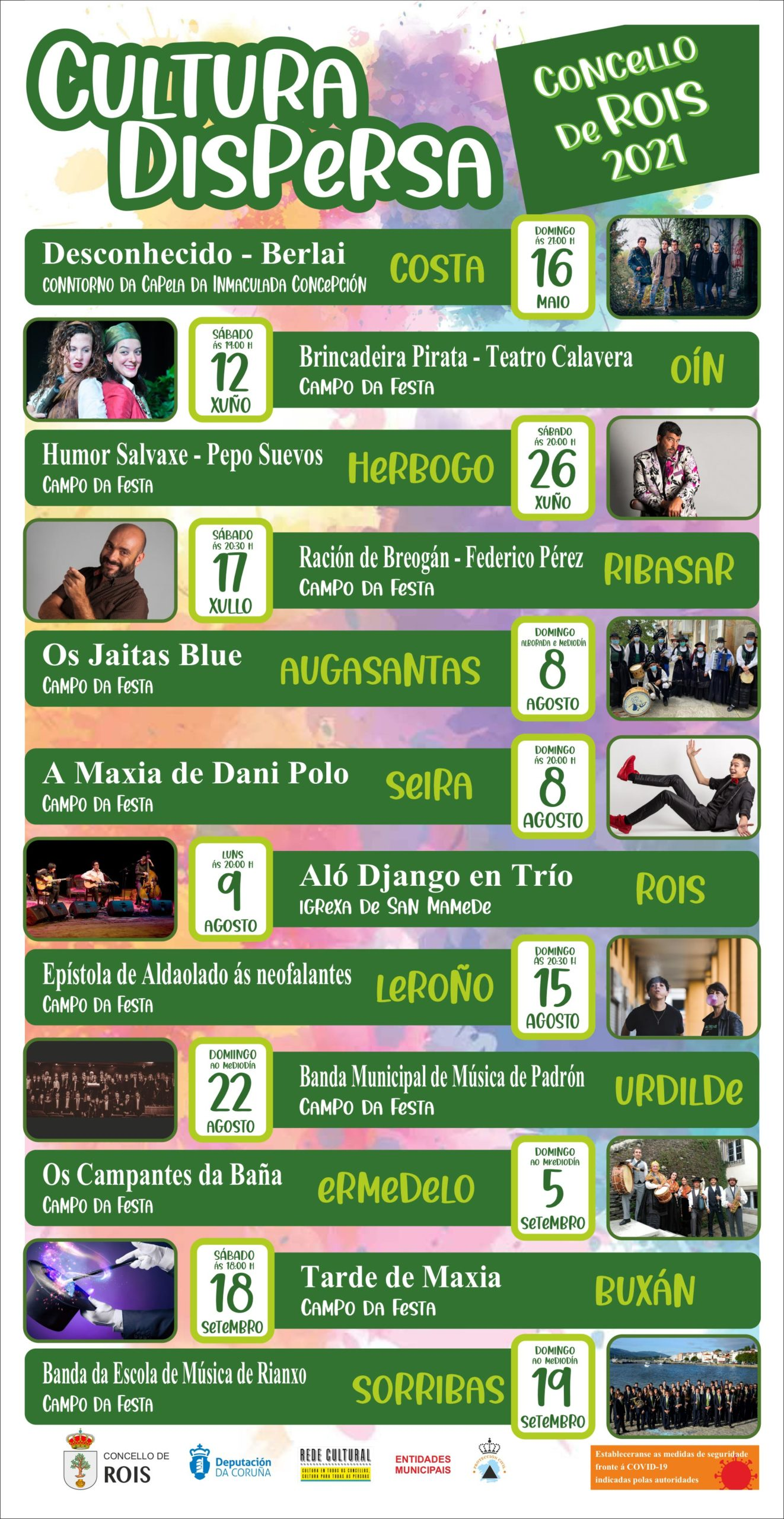 Cultura Dispersa por Rois continúa neste mes de xuño con dous novos espectáculos gratuítos