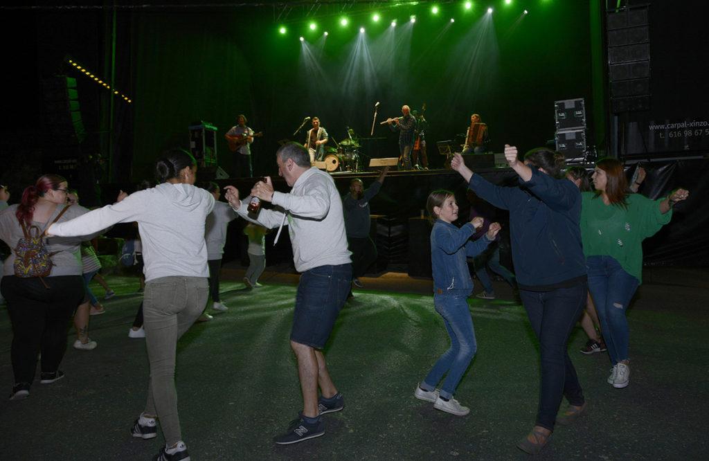 Un momento do concerto de Pepe Vaamonde Grupo