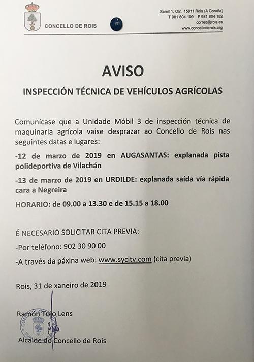 20190214 Cartel Inspección Técnica Maquinaria