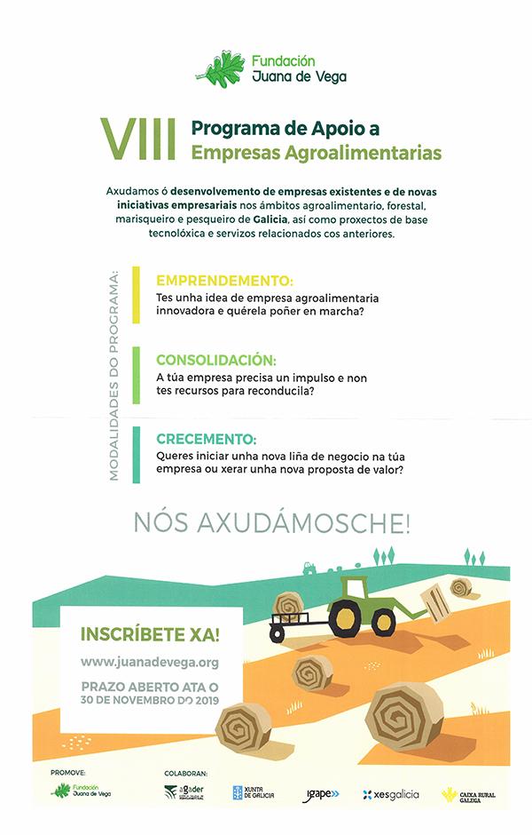 20191106 VIII Programa Apioio Empresas Agroalimentarias